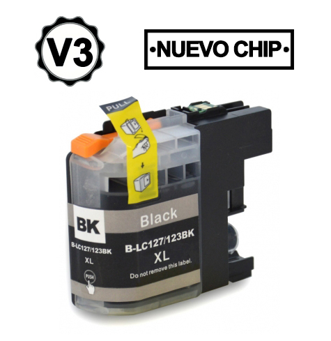 LC121BK/LC123BK Cartucho negro compatible con Brother.