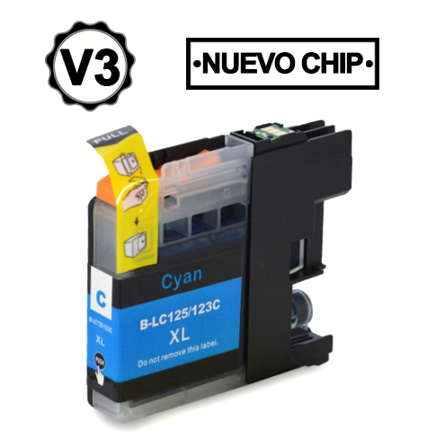 LC121C/LC123C Cartucho cian compatible con Brother.