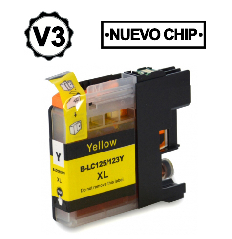 LC121Y/LC123Y Cartucho amarillo compatible con Brother.