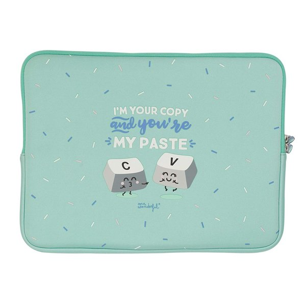 "Funda de portátil de 15,6"" - I'm your copy and you're my paste"
